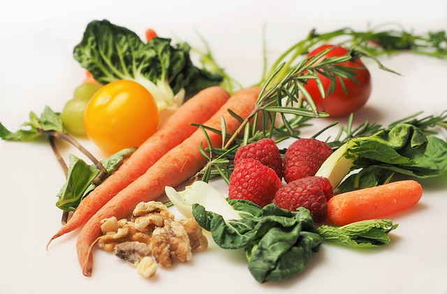 maliny a zelenina