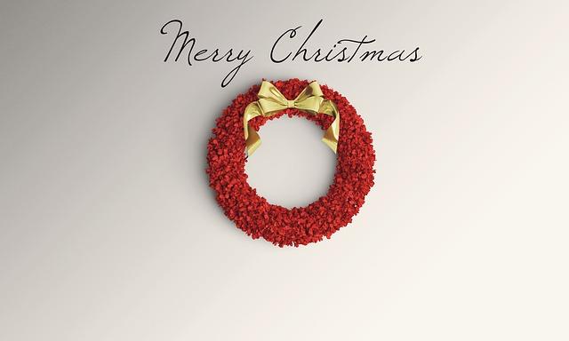 červený vánoční věnec